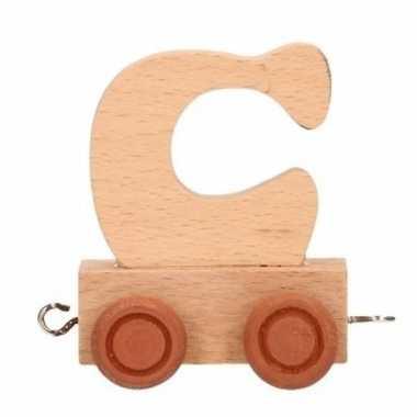 Letter speelgoed treintje c