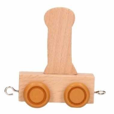 Letter speelgoed treintje i