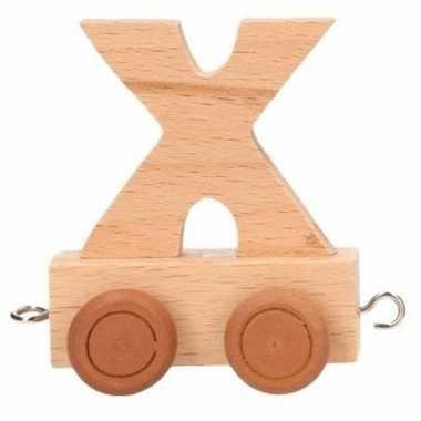 Letter speelgoed treintje x
