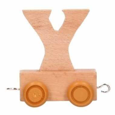 Letter speelgoed treintje y
