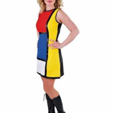 Leuke 60s jurk met verschillende kleuren
