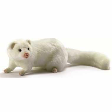Levensechte witte fret knuffel 23 cm