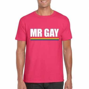 Lgbt shirt roze mister gay heren