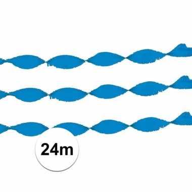 Licht blauw slinger crepe papier