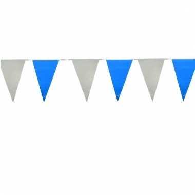 Licht blauw/witte buiten vlaggetjes