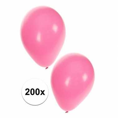 Licht roze feest ballonnen 200 st