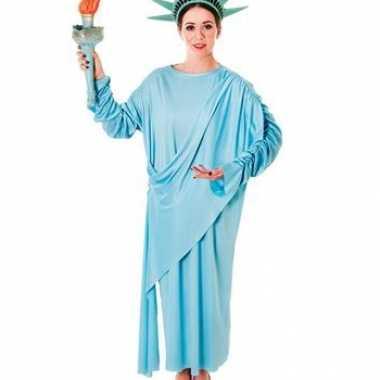 Lichtblauw vrijheidsbeeld kostuum