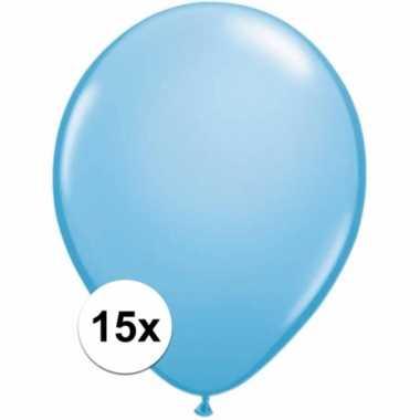 Lichtblauwe ballonnetjes 15 stuks