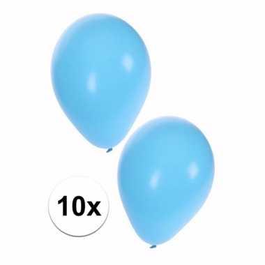 Lichtblauwe party ballonnen 10x