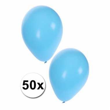Lichtblauwe party ballonnen 50x