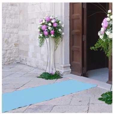 Lichtblauwe versiering lopers 1 meter breed