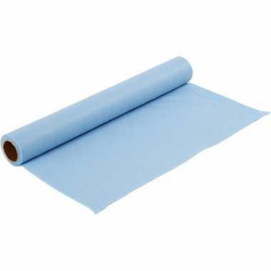 Lichtblauwe vilten onderlegger 1,5 mm dik