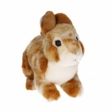 Lichtbruin konijn knuffeldier 22 cm knaagdier