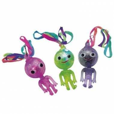 Lichtgevend alien poppetjes ketting