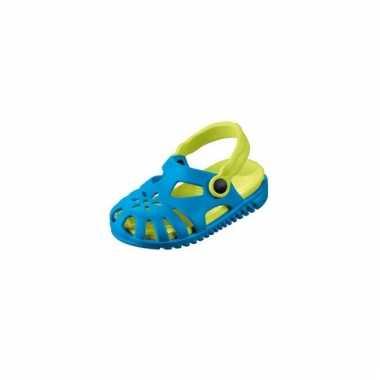 Lichtgewicht kinder waterschoen sandaaltjes blauw met groen