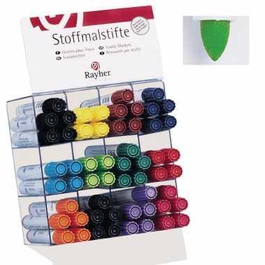Lichtgroen gekleurde textiel stift dik