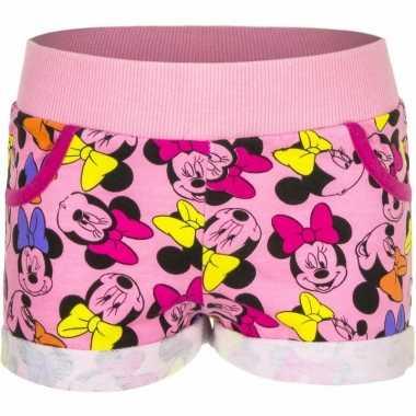 Lichtroze minnie mouse shorts