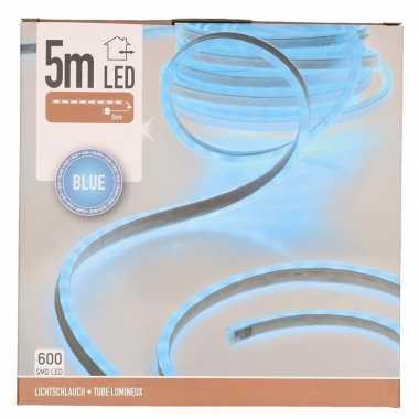 Lichtslang led strip blauw buiten 5 meter