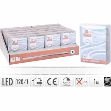 Lichtslang led strip op batterij helder wit binnen 1 meter