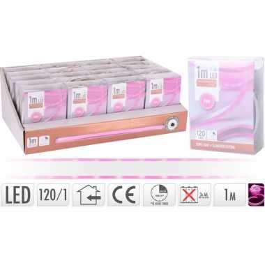 Lichtslang led strip op batterij roze binnen 1 meter