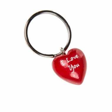 Liefdes hartjes sleutelhangers 4cm