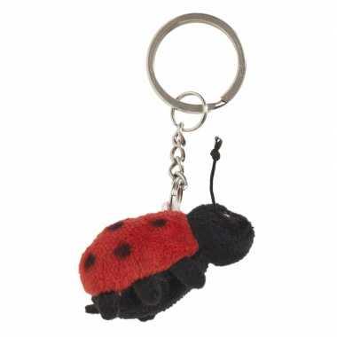 Lieveheersbeestje sleutels hangertje 6 cm