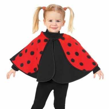 Lieveheersbeestje verkleed poncho voor peuters