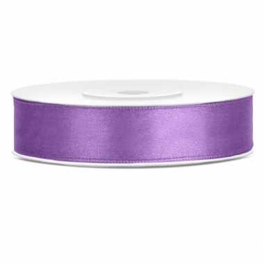 Lila paarse kadolinten satijn 12 mm