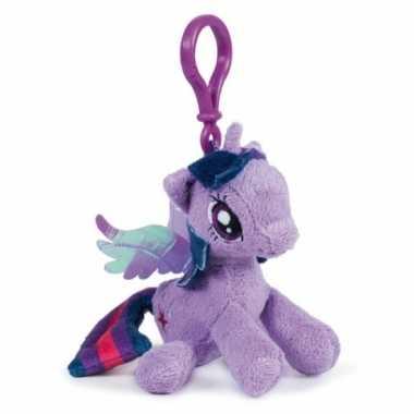 Lilapaarse my little pony tashanger knuffeltjes 12 cm