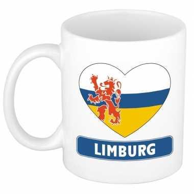 Limburgse vlag hartje koffiemok 300 ml