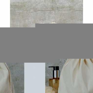 Linnen sporttasje met koord 25 x 30 cm