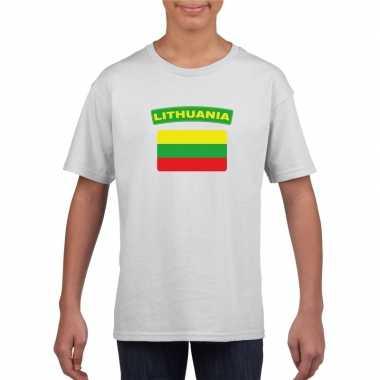 Litouwse vlag kinder shirt wit