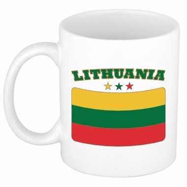 Litouwse vlag koffiebeker 300 ml