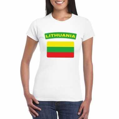 Litouwse vlag shirt wit dames