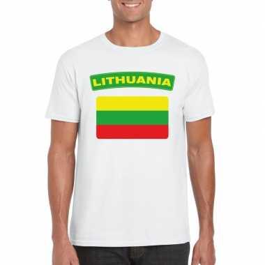 Litouwse vlag shirt wit heren