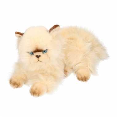 Luie liggende persische katten knuffel
