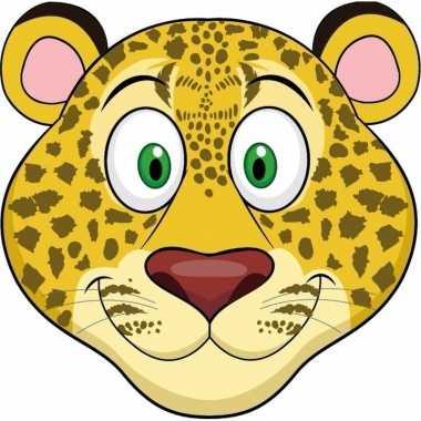 Luipaard maskertjes voor kinderen