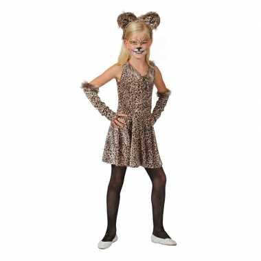 Luipaard verkleed jurkje met accessoires voor meisjes