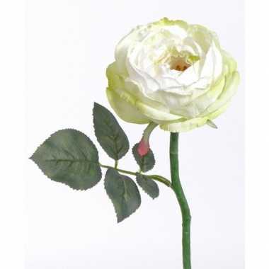 Luna kunst roos wit 33 cm