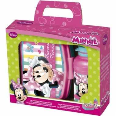 Lunchbox en beker minnie mouse