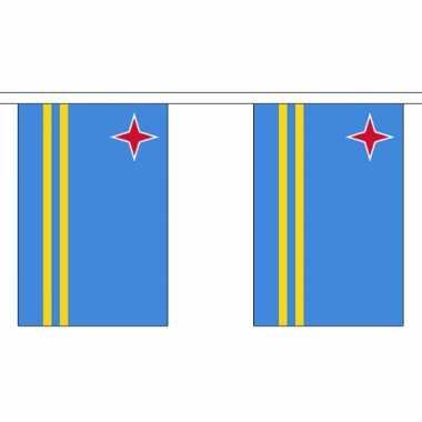Luxe arubaanse vlaggenlijn 3 meter