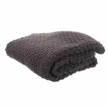 Luxe bank dekens grijs 150 cm