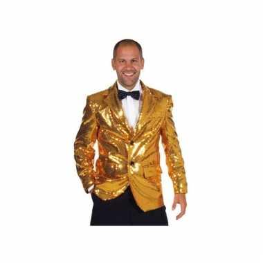 Luxe blazer goud voor heren