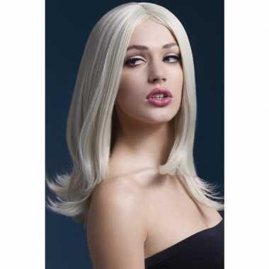 Luxe blonde pruik sophia voor dames