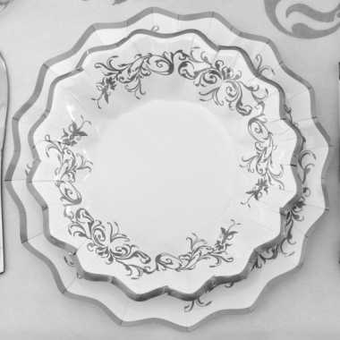 Luxe bordjes met zilveren versiering