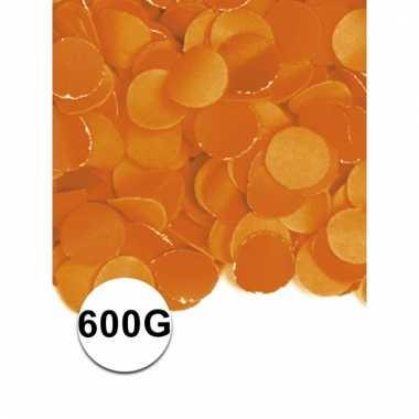 Luxe confetti oranje 600 gram