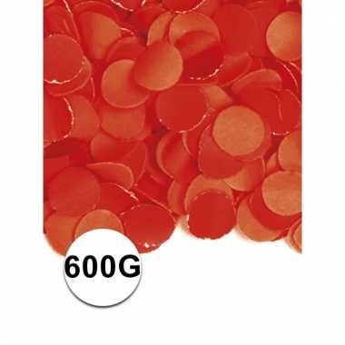 Luxe confetti rood 600 gram