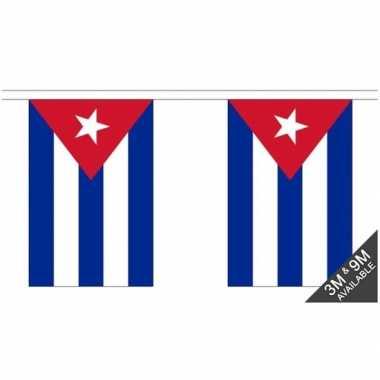Luxe cubaanse vlaggenlijn 3 meter