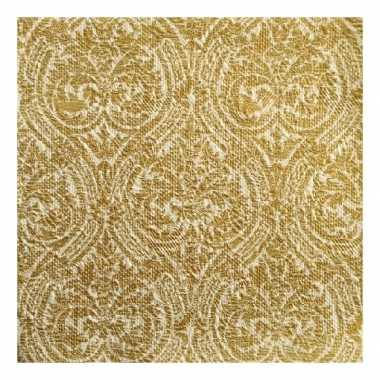 Luxe elegance servetten goud 3-laags 15 st