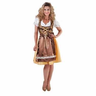 Luxe gouden dirndl voor dames